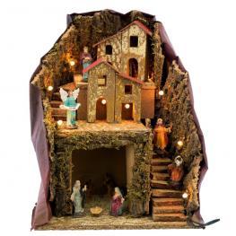 Portal 9 Figuras Decoración Navidad 24,50 X 19,50 X 30 Cm