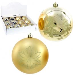 Bola Decorada Plástico Oro 3/m 10 X 10 X 10 Cm