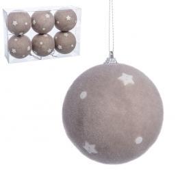 S/6 Bolas Estrella y Botones Foam 8 X 8 X 8 Cm