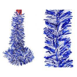 Boa Azul-Blanco Decoración Navidad 180 X 12 X 12 Cm