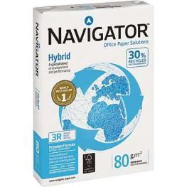 Navigator Hybrid.Papel Multifuncion 500H 80 G. A4 003Rex