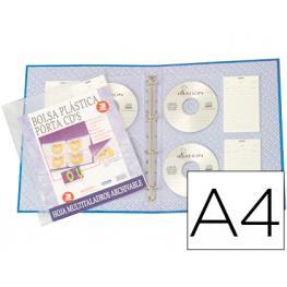 Paq. 3 Fundas Para 4 Cd/dvd Con Tarjeta Identificativa Beautone 036064