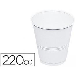 Paquete 100 Vasos Plastico Blanco 220 Cc. Agua