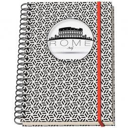 Dohe Cuaderno Espiral Mod. Vesta City Rome Din A-6 C/goma 5X5 10707