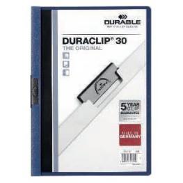 Durable Dossiers Clip Duraclip Capacidad 30 Hojas A4 Azul Oscuro Pvc