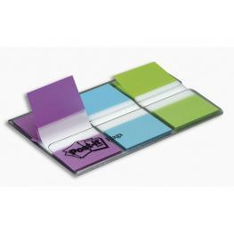 Post-It Indices Adhesivos 3 Ud 20 Indices/ud 25,4X43 Violeta, Verde y Azul Xa004806197