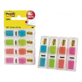 Post-It Indices Adhesivos Index Pack 3+1 Gratis 25,4X43,1  Colores Surtidos 70005040152