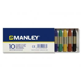 Manley Ceras Caja 10 Ud Colores Surtidos Mnc00033