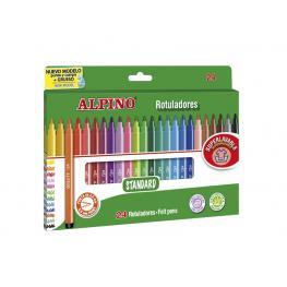 Alpino Rotuladores Estuche 24 Ud Lavable Colores Surtidos Ar001003