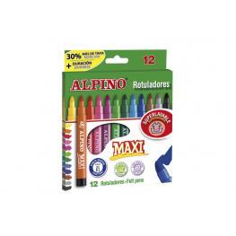 Alpino Rotuladores Alpino  Punta Maxi Estuche 12 Ud Punta Gruesa Colores Surtidos Ar000006