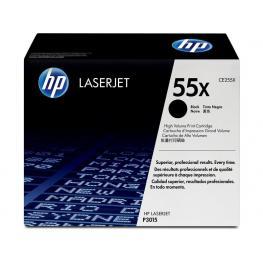 Hewlett Packard Toner Laser 55X Negro  Ce255X