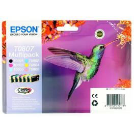 Epson Pack 6 Cartuchos Inyeccion T0807 Rainbow C13T08074011