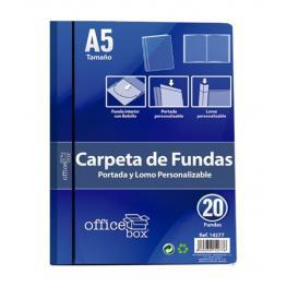 Carpeta Officebox Din A-5 20 Fundas Hfp Negra 14277