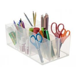 Organizador Sobremesa Archivo 2000 Con 9 Compartimentos Poliestireno Transparente 290X170X105 Mm