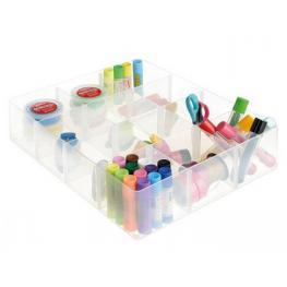 Organizador Sobremesa Archivo 2000 Con 12 Compartimentos Poliestireno Transparente 370X310X90 Mm