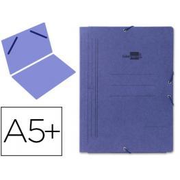 Carpeta Liderpapel Gomas Cuarto Sencilla Carton Pintado Azul