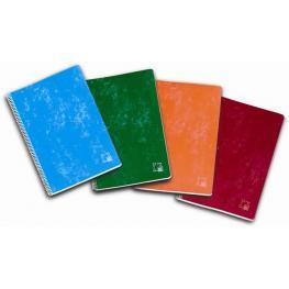 Cuaderno Pacsa Fº Tapa Carton Pauta 2,5 80H 60Gr. Colores