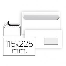 Caja 500 Sobres Americano Ventana Derecha 115X225 T. Silicona 90Gr. Antalis