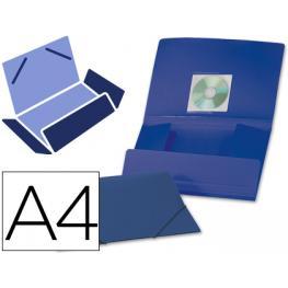 Carpeta Liderpapel Gomas Solapas 38722 Polipropileno Din A4 Azul