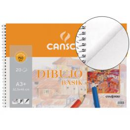 Guarro Canson Bloc Dibujo Basik Din A3+ 32.5X46 Cm 20 Hojas de 150 Gramos.