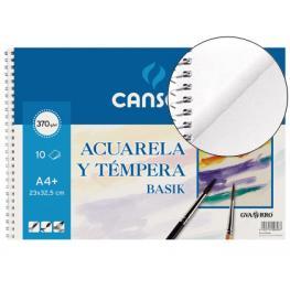 Guarro Canson Bloc Dibujo Acuarela Din A4+ Espiral 23X32.5 Cm 10 Hojas de 370 Gramos.