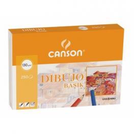 Guarro Canson Papel Dibujo Basik 210X297 -130 Gr -Sin Recuadro. Pack 250 Hojas.