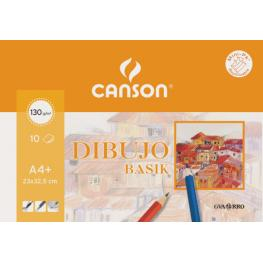 Pack 10H Papel Basik 130Gr A-4+ Sin Recuadro Canson