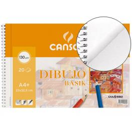 Guarro Canson Bloc Dibujo Basik Din A4+ Espiral 23 X 32.5 Cm -20 Hojas Microperforado. 130 Gr