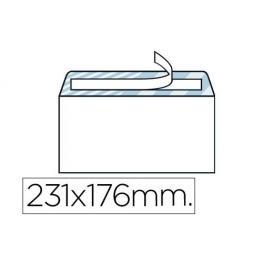 Caja 500 Sobres Cuartilla Solapa Recta / Tira Silicona 2090-As