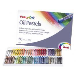 Pentel Pasteles de Aceite Caja 50 Ud Colores Brillantes Muy Surtidos Phn-50