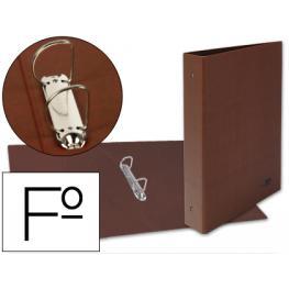 Carpeta de 2 Anillas 25Mm Mixtas Liderpapel Folio Carton Cuero Forrado Compresor Plastico