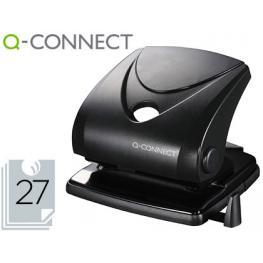 Taladrador Q-Connect Kf01235 Negro -Abertura 2,7 Mm -Capacidad 27 Hojas