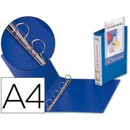 Carpeta Liderpapel Canguro 4 Anillas Mixtas 25 Mm 43452 Polipropileno Din A4 Azul