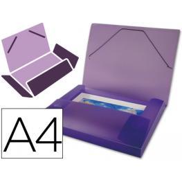 Carpeta Beautone Portadocumentos 36856 Polipropileno Din A4 Violeta Serie Frosty Lomo 25 Mm