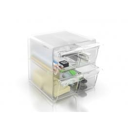 Archivo 2000 Cubo Organizador Con 4 Cajones Pequeños Transparente 195X155X155 Mm 6704Cstp
