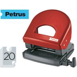 Taladrador Petrus 62 Color -Rojo -Capacidad 20 Hojas