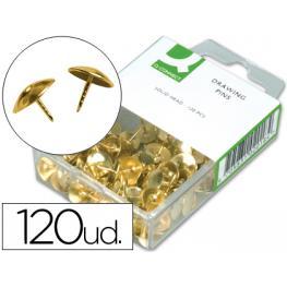 Chinchetas Q-Connect Doradas -Caja de 120 Unidades