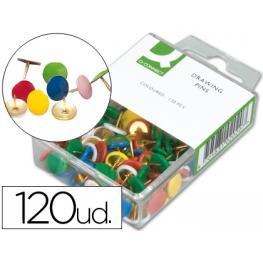 Chinchetas Q-Connect Colores Surtidos -Caja de 120 Unidades