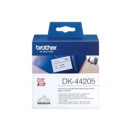 Brother Etiqueta Continuo 62Mm X 30M Blanco Para Dk44205 Dk-44205