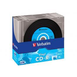 Verbatim Cd-R Azo Data Vinyl Slim Pack 10 Ud 52X 700Mb 80Min 43426