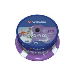 Verbatim Dvd+R Advanced Azo Bobina Pack 25 Ud 8X 8,5Gb 240 Min 43667
