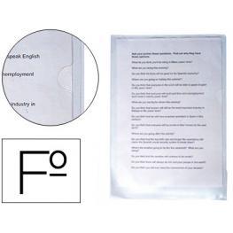 Carpeta Dossier Uñero Saro Pvc Folio 280 Mc Transparente