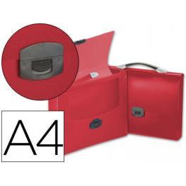 Carpeta Beautone Portadocumentos Broche 34620 Polipropileno Din A4 Roja Transparente Con Asa