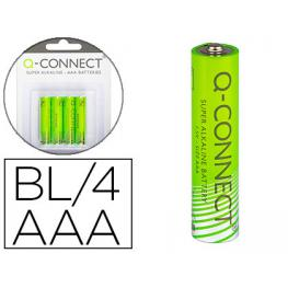 Blister 4 Pilas Aaa Alcalinas Q-Connect Kf00488