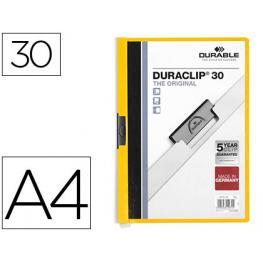 Durable Dossiers Clip Duraclip Capacidad 30 Hojas A4 Amarillo Pvc