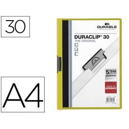 Durable Dossiers Clip Duraclip Capacidad 30 Hojas A4 Verde Pvc