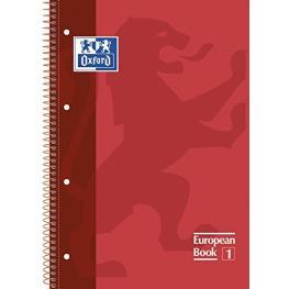 Oxford Cuaderno School 80H A4 Cuadricula 5X5 Rojo 100430198