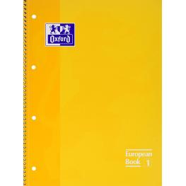 Oxford Cuaderno Espiral School 80H A4 Cuadricula 5X5 Amarillo 100430200