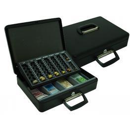 Caja Caudales Q-Connect 14,5 370X270X95 Mm Con Portamonedas y Bandeja Para Billetes