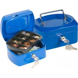 Caja Caudales Q-Connect 6 152X115X80 Mm Azul Con Portamonedas